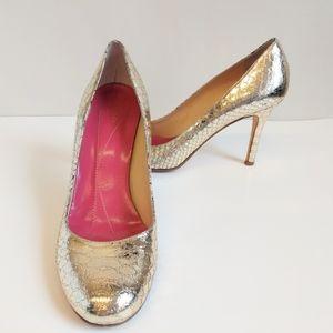 Kate Spade Karolina Gold Snakeskin Heels Size 11